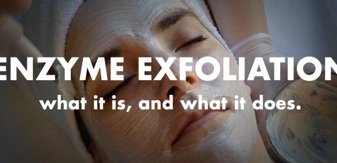 What is enzyme exfoliation?