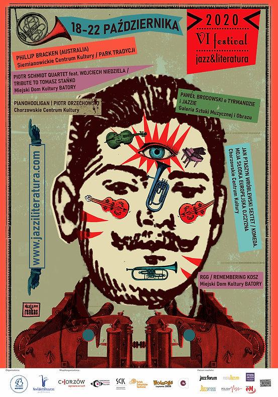 plakat 6. festiwalu Jazz&Literatura 2020