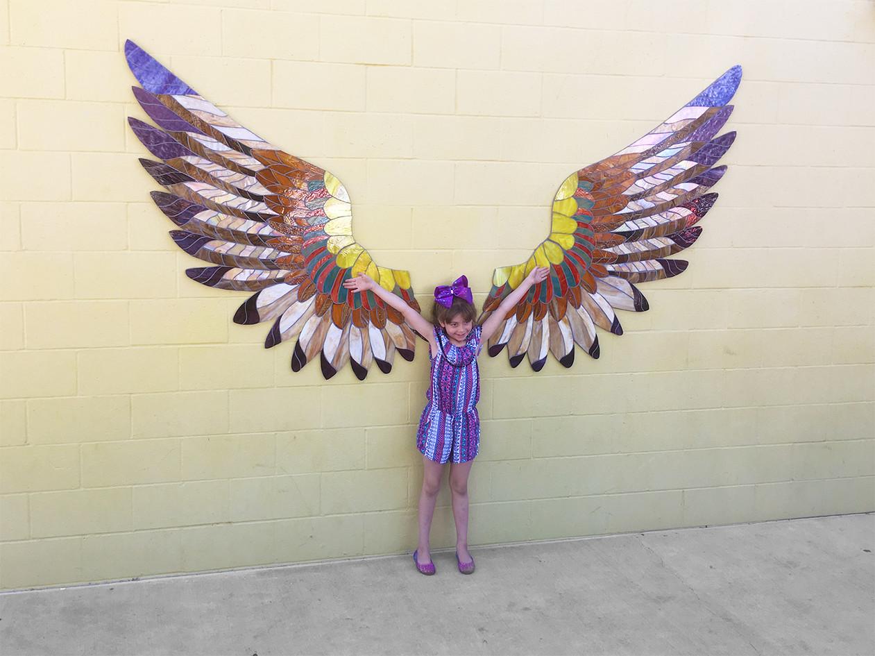 Mosaic Hawk Wings