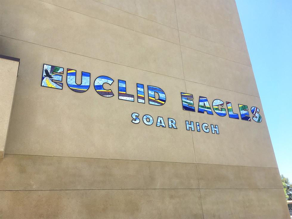 Euclid Eagles Soar High letters