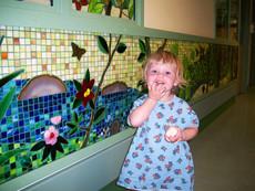 Beatiful mosaic children's rainforest at Kaiser Permanente