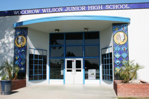 School Entrance at Woodrow Wilson Jr High