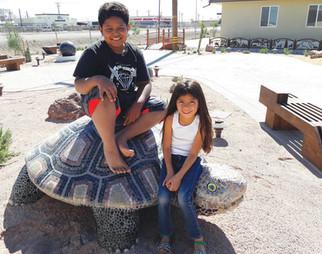 Mosaic turtle sculpture in Imperial, California
