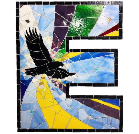 Euclid Eagles Soar High letters detail
