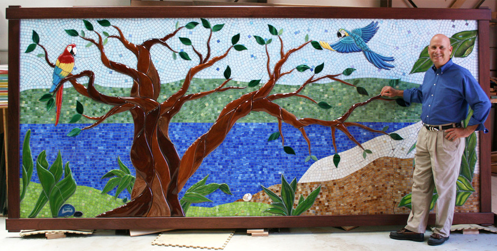 Mosaic rainforest donor tree at the Family Justic Center