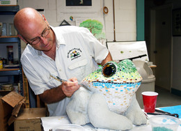 Rady's children's hospital hypoallergenic mosaic garden frog