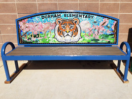 Durham Elementary tiger bench