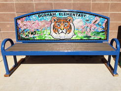 "Durham ""Twin Tigers"" Friendship Bench"