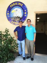 Dan Evers and Principal Fernando Hernandez at Perkins Elementary