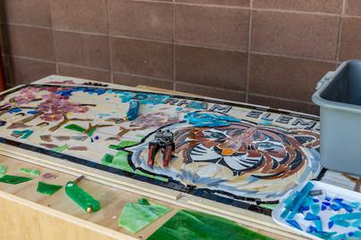 Durham Elementary tiger bench process