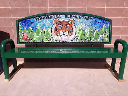 "Ponderosa ""Twin Tigers"" Friendship Bench"