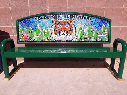 Ponderosa Elementary tiger bench