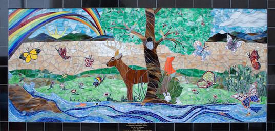 Mosaic mural at Hamilton Elementary School in San Diego