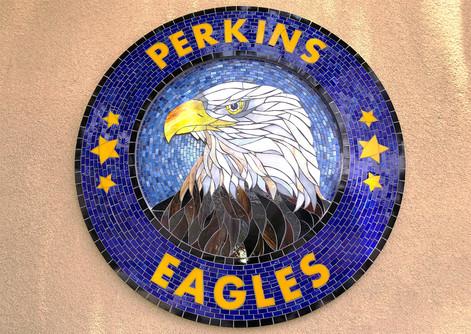 Perkins Eagles Logo Medallion