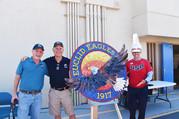Mosaic eagle logo at Euclid Elementary School