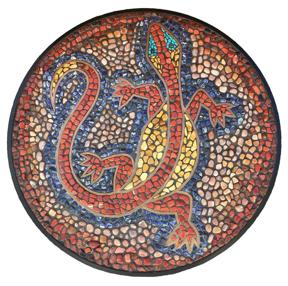 Mosaic Lizards at Alyce Gereaux Park