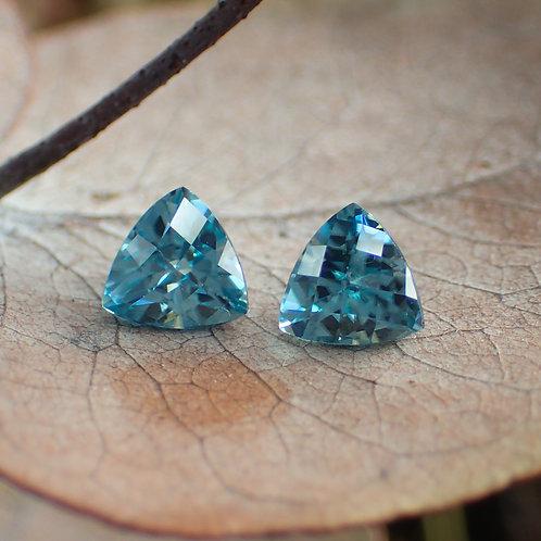 Blue Zircon Pair
