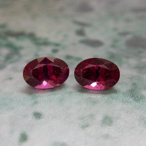Rhodolite Garnet Pair