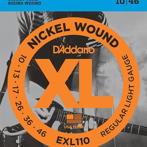 D'addario EXL110 Reg. Light .010 – .046