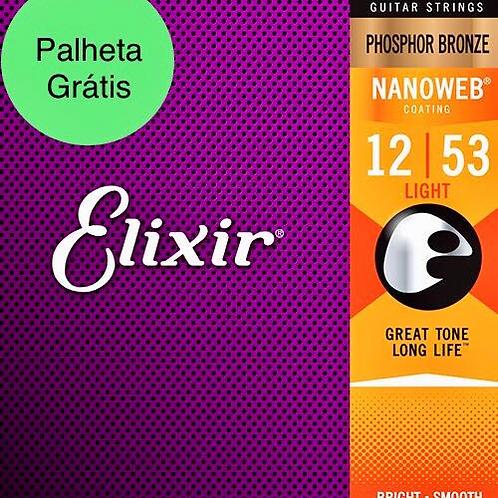 Cordas Elixir Violão Nanoweb Phosphor 16052 .012 - .053