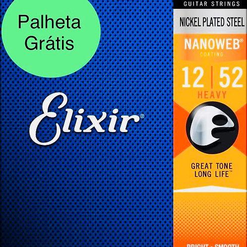 Elixir Cordas Para Guitarra 12152 .012 - .052