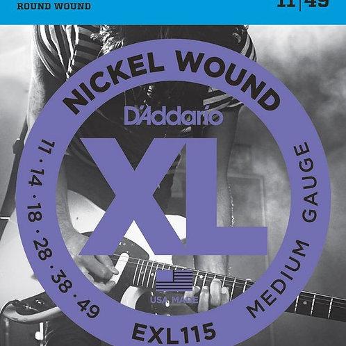 D'addario EXL115 Medium .011 – .049