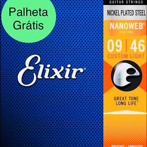 Elixir Cordas Para Guitarra 12027 .009 - .046