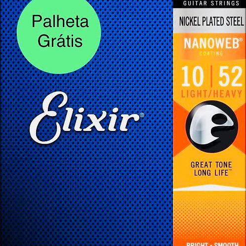 Elixir Cordas Para Guitarra 12077 .010 - .052