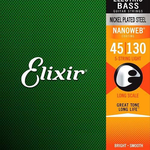 Elixir 14202 Baixo 5 Cordas .045 - .130