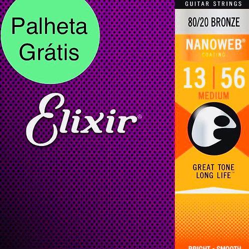 Cordas Elixir Violão Nanoweb 11102 .013 - .056