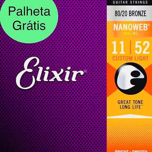 Cordas Elixir Violão Nanoweb 11027 .011 - .052