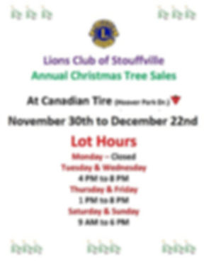 2019 Christmas Tree Sales Larger  Sign w