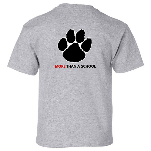 Youth Gildan Sport Grey Paw Print Spirit Shirt