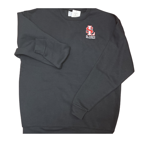 YOUTH Black Sweatshirt with embroidered logo