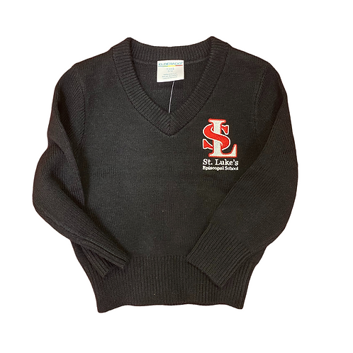 (Unisex) Youth & Toddler Embroidered V Neck Sweaters