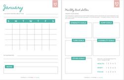 Monthly Calender + Goals