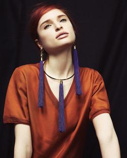 Elizabeth Collar & Fringe Earings