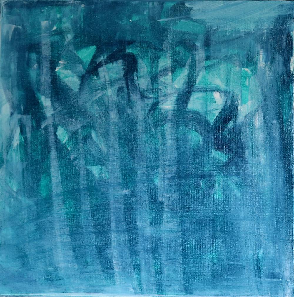 Bild: fallen in the blue pond