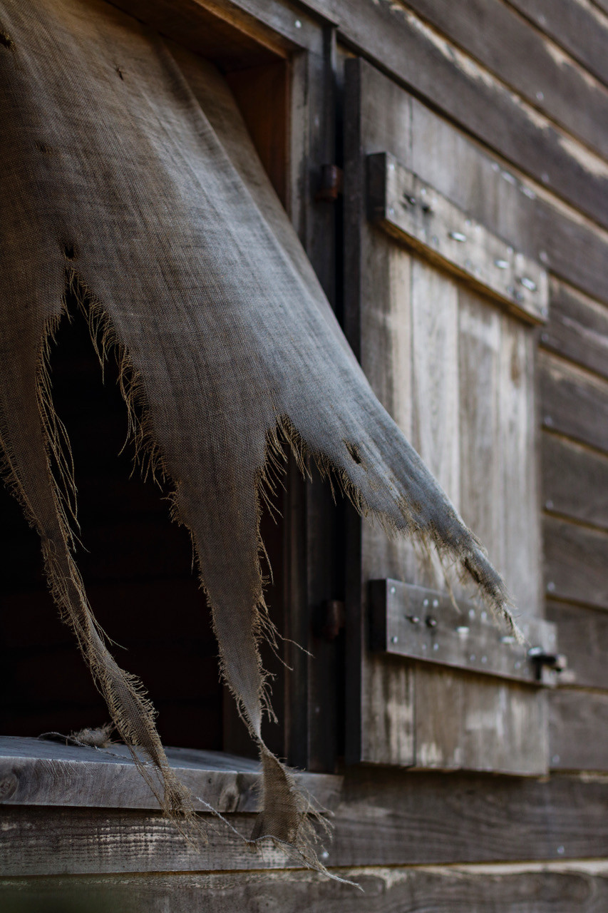 Oak Alley Sklavenunterkunft Fenster