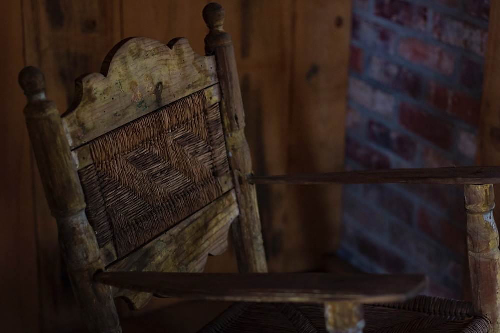 Oak Alley Sklavenunterkunft Schaukelstuhl