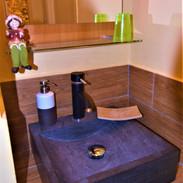 salle de bain forêt au fil des saisons sur la wiels