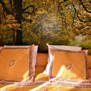 Chambre forêt au fil des saisons sur la wiels