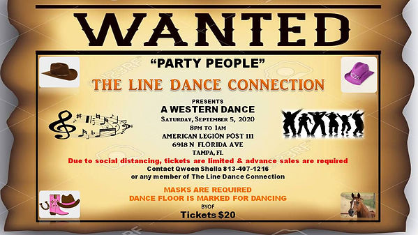 WANTED 1ST SATURDAY Western Dance 9-15-2