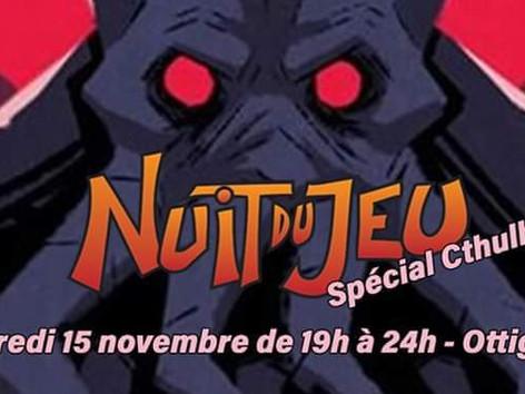 Soirée jeux du vendredi 15 novembre spécial CTHULHU/LOVECRAFT!!!