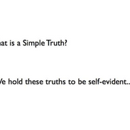 1 What is a simple truth