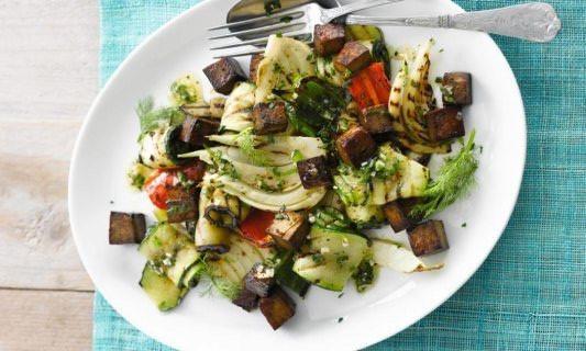Zuiders, olijfolie, tofu, vegetarisch, delicatesse, Spaans, courgette, aubergine