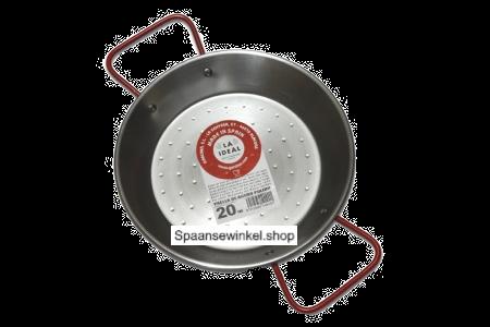 24 cm Paella Pan van Gepolijst Staal (maat tapa)