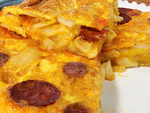 Tortilla de Chorizo (Spaanse Tortilla met Chorizo)