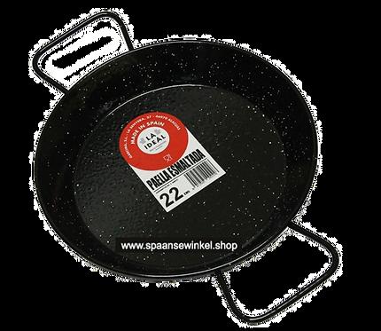 22 cm geëmailleerde paellapan (tapa's formaat)