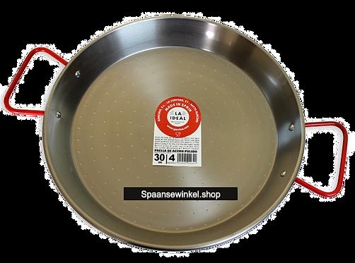 30 Paella Pan van Gepolijst Staal